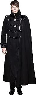 Men's Black Gothic Vintage Long Jacket Punk Military Cape Coat