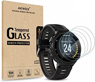(Pack of 4) Tempered Glass Screen Protector for Garmin Forerunner 735XT, Akwox [0.3mm 2.5D High Definition 9H] Premium Cle...