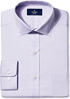 Marchio Amazon - Buttoned Down - Classic Fit Spread-collar Pinpoint Non-iron Dress Shirt, dress-shirts Uomo