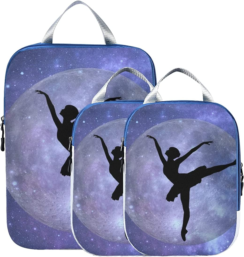 Packing Travel Ranking TOP9 Organizer Cubes SEAL limited product Digital Moo Silhouette Ballet Art