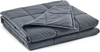 RelaxBlanket Couple Weighted Blanket | 80''x90'',30lb | Premium Cotton | Enjoy Natural Deep Sleep | King Size | Dark Grey