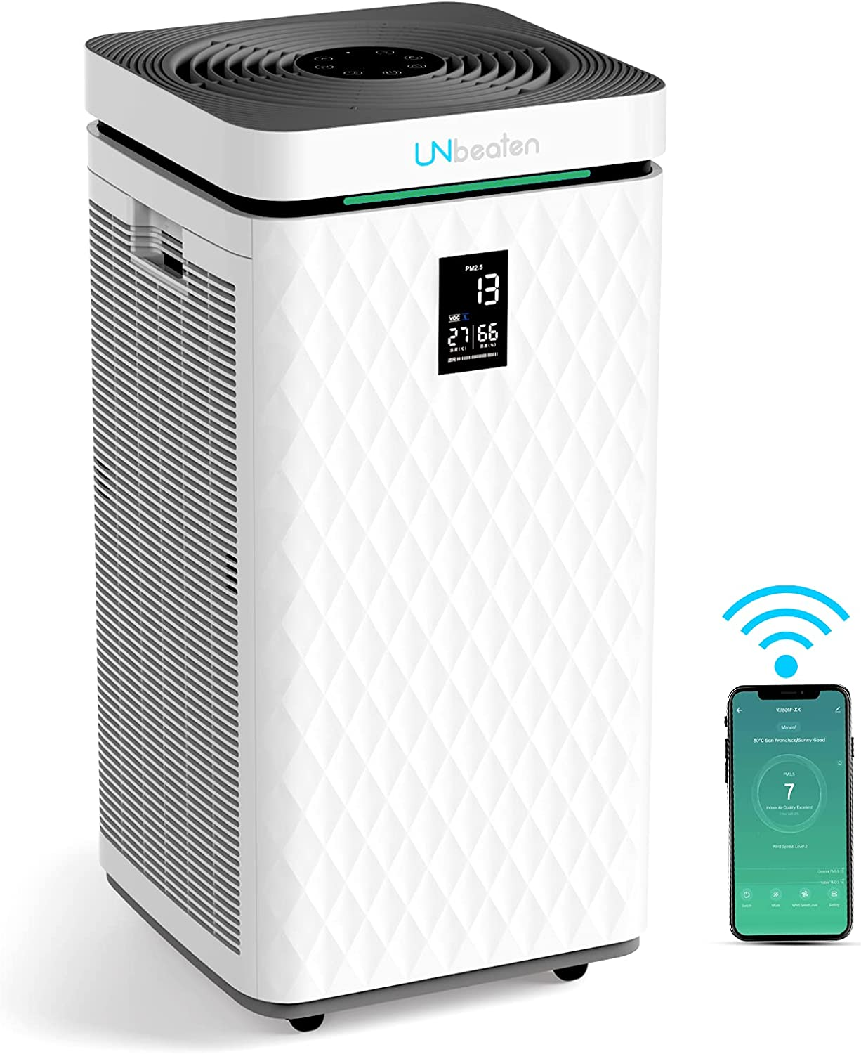 UNbeaten Smart WiFi 35% OFF Air Purifier for to Home Large Free Shipping New Room Up 1800f