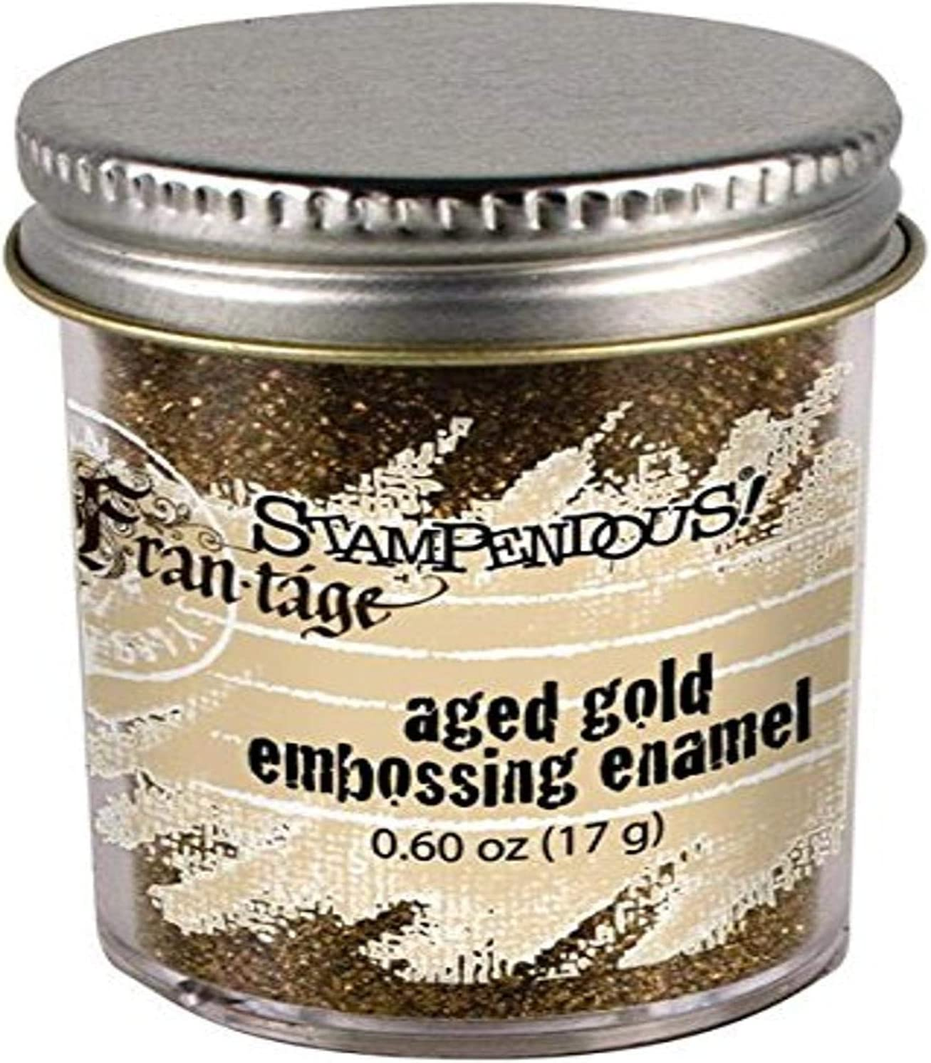 Stampendous Finally resale Detroit Mall start Aged Embossing Enamel 0.65-Ounce Gold