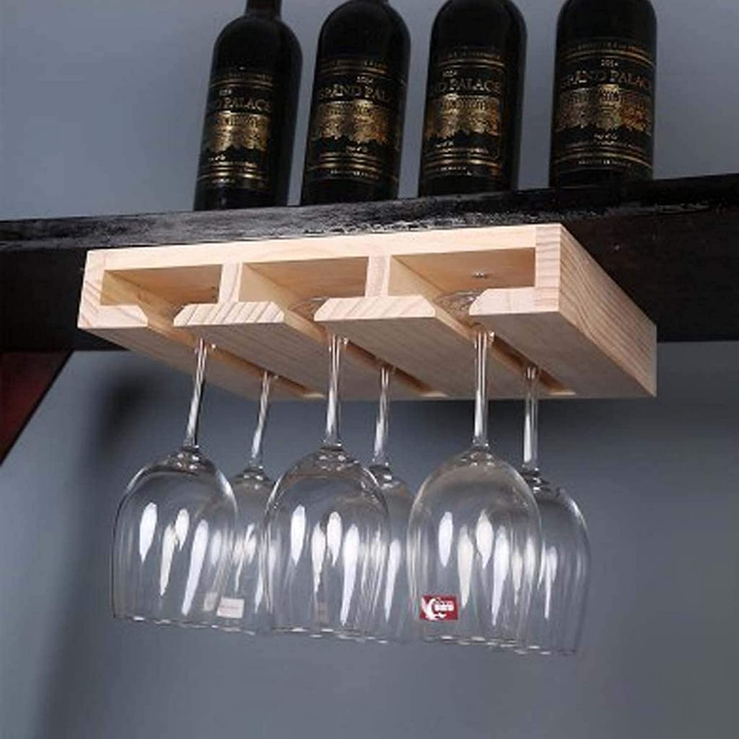 GAXQFEI Stemware Year-end gift Glass Rack Wooden Hanging Wine Soft Max 57% OFF