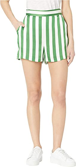 Awning Stripe Satin Shorts