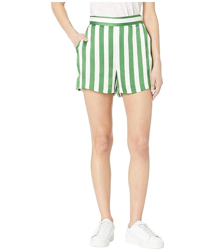 Juicy Couture Awning Stripe Satin Shorts