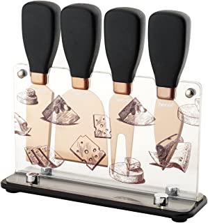 Set di coltelli da Formaggio Flamingo Palme Cactus Acciaio Inox Colorato Party Decorazione Estate Ristorante Hotel Compleanno Logbuch-Verlag 3 TLG