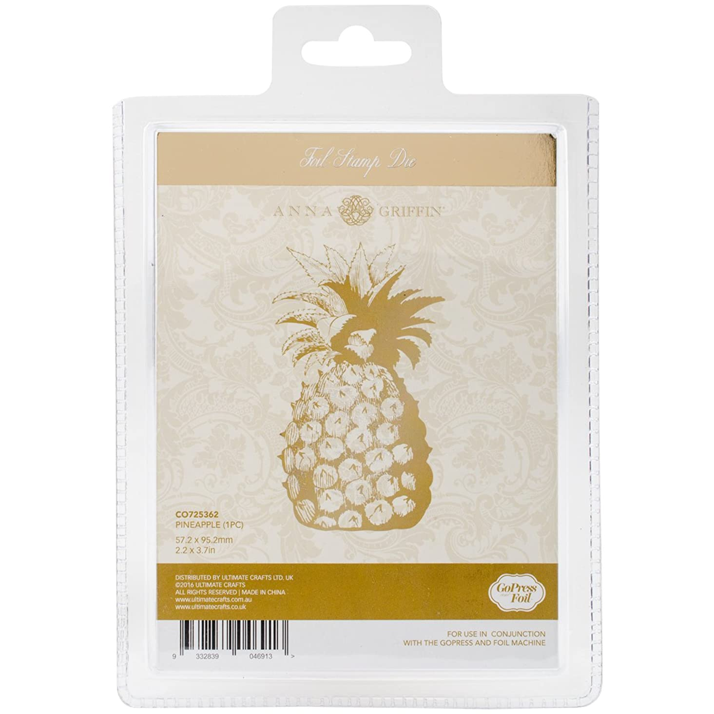 Artdeco Creations Pineapple Couture Creations Anna Griffin Hotfoil Plate xyaoc899958