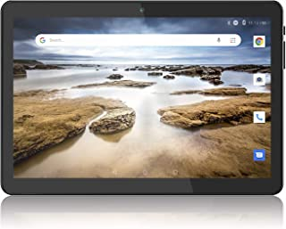 Tablet 10 inch, 3G Phablet, Android 8.1, 32GB Tablets PC, Dual SIM Slot Card, 1280x800 IPS, GMS Certified, WiFi, Bluetooth, GPS - Black