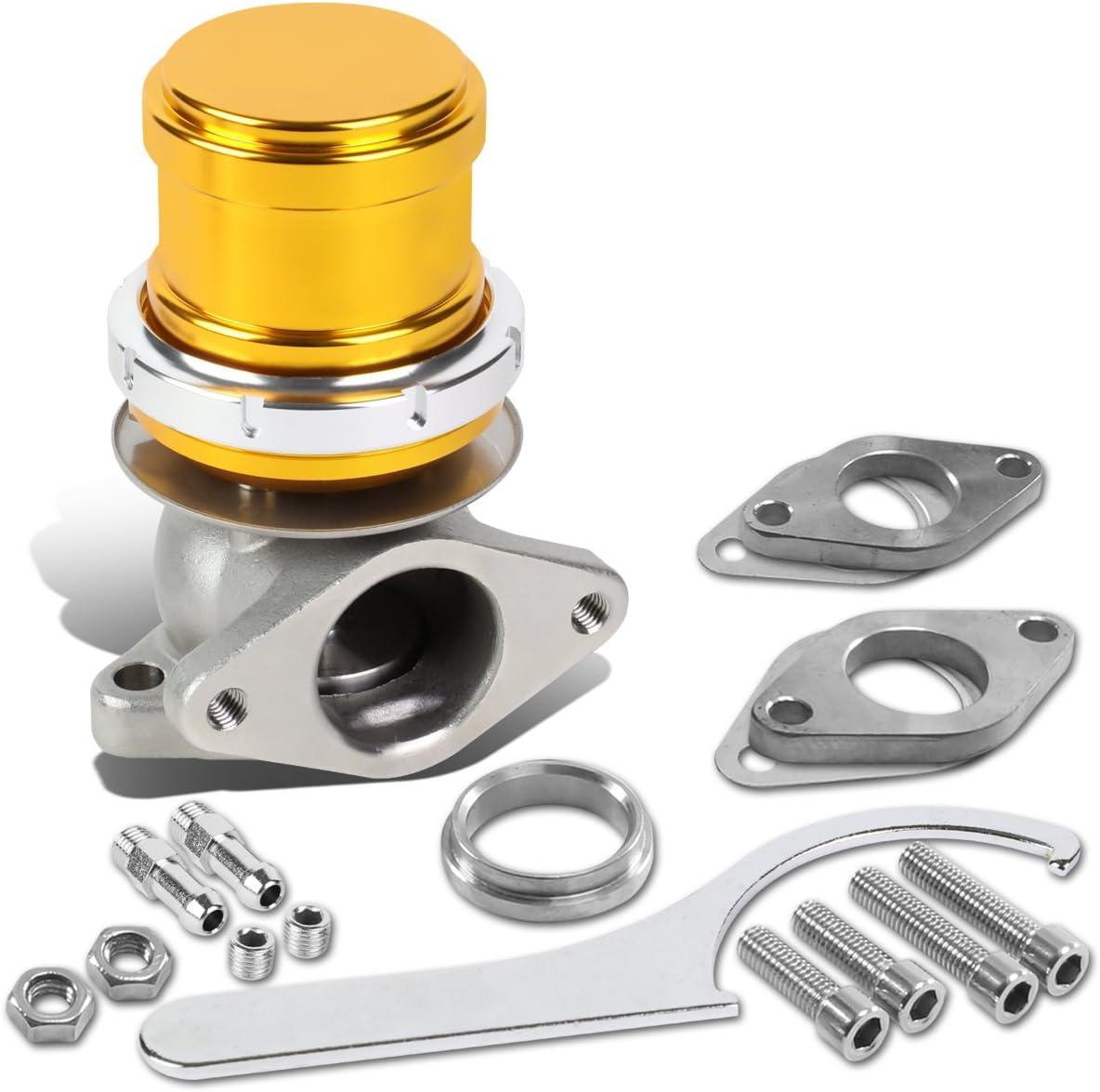 DNA Motoring WG-TS-38MM-T33-GD Our shop most popular Outlet SALE External Turbo Manifold Wastegate