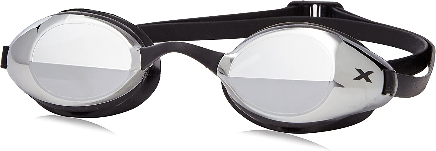 (One Size, Black Black) - 2XU Mirror Stealth Goggles