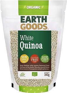 Earth Goods Organic White Quinoa, NON-GMO, Gluten-Free, Good Fiber Source 340g