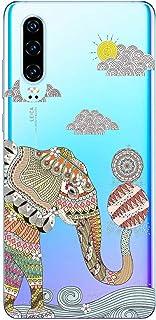 Oihxse Funda Dibujos Animal Lindo Compatible Huawei P20 Pro Carcasa Transparente Clear Silicona TPU Gel Suave Case Ultra S...