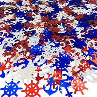Confetti Glitter Metallic Foil Table for Party Decorations DIY Red Blue White Anchor Rudder 1.5 oz