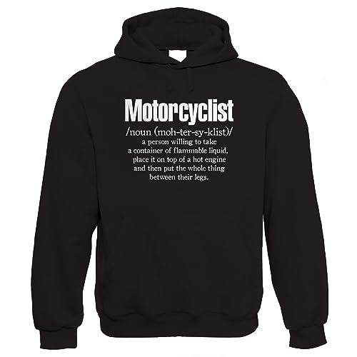Motorcycle Madness Mens Funny Biker Hoodie Motorbike Cafe Racer Enthusiast Bike