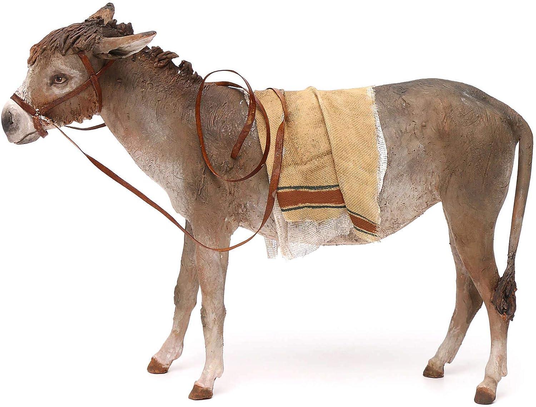 Max 79% New arrival OFF Holyart Nativity Scene Figurine Angela Donkey Terracotta 30cm