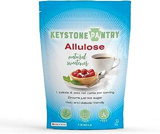 Keystone Pantry Non-GMO Allulose Powder, 2 lb Bag, Low Calorie, Zero Net Carb, Keto, Diabetic Paleo Friendly Natural Sugar...