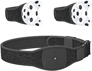Skywin VR Tracker Belt, Hand Strap, and Protective Silicon Skins for HTC Vive System Tracker Pucks - Adjustable Belt, Stra...