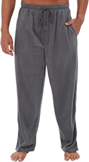 Alexander Del Rossa Men's Warm Fleece Pajama Pants, Long Lounge Bottoms
