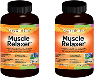 Crystal Star Muscle Relaxer Herbal Supplements, 60 Count (120)