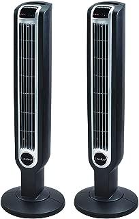 Lasko 2511 Tower Fan, Three Quiet Speeds, 36-Inch, Black 2-Pack