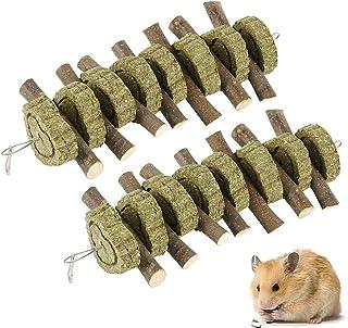 Scorpiuse1_jp ハムスター 歯磨き 小動物用おもちゃ チンチラ ウサギ あそび道具 りんごの木 歯磨きボール おもちゃ遊具 ペットおもちゃ 2点セット (2点セット)