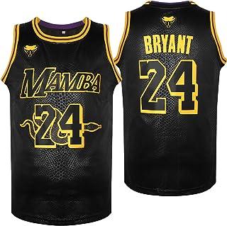 NJKA 24 Athletic Sports Black Snakeskin Basketball Jersey Stitched 90S Hip Hop Fashion Basketball Jersey