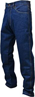 Men Motorcycle Motorbike Denim Jeans Trouser with Protective Armored Lining Blue