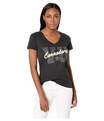 Champion College Vanderbilt Commodores University V-Neck Tee (Black 1) Women