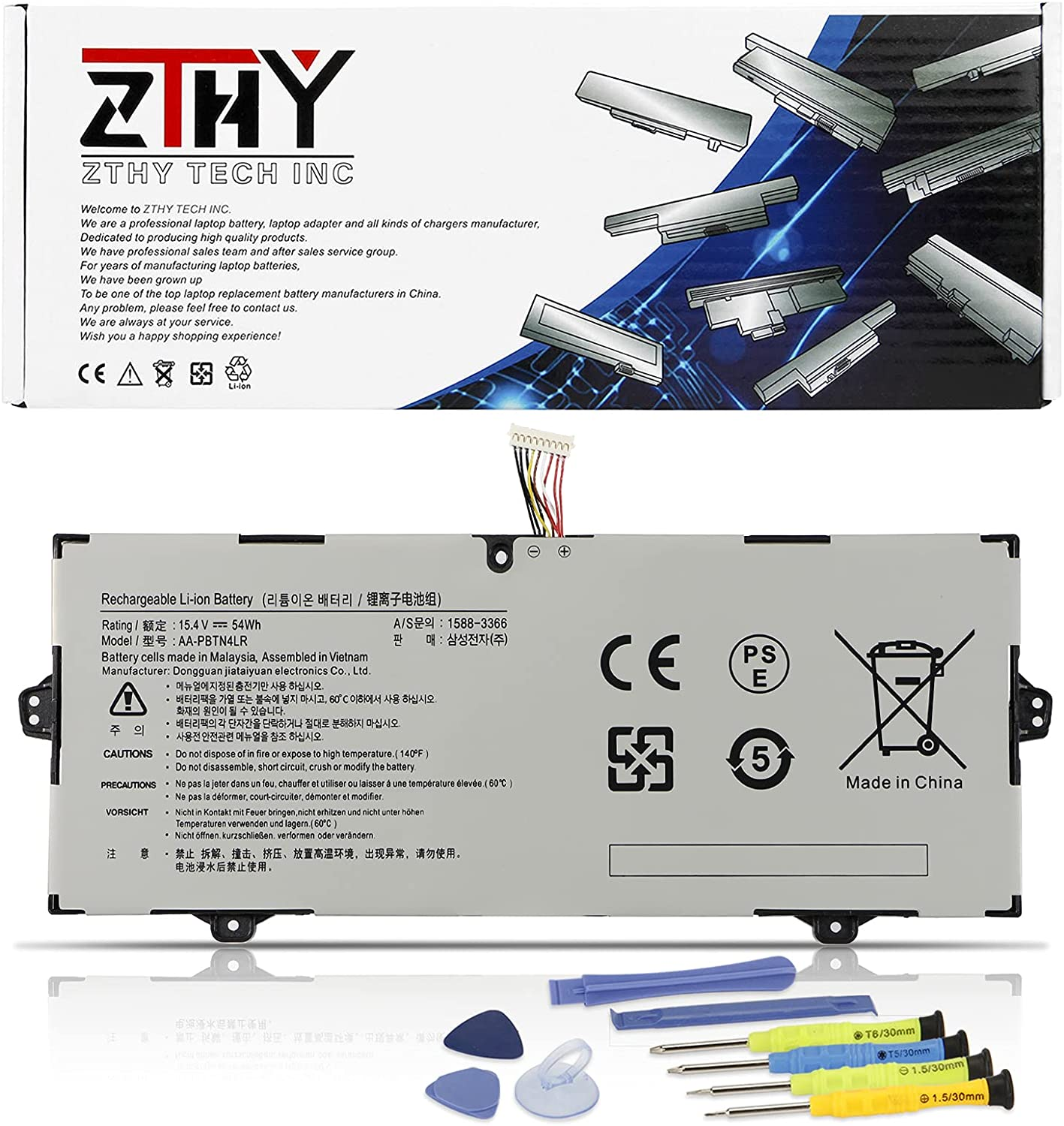 ZTHY AA-PBTN4LR Laptop Battery Compatible Samsung with Now free shipping NP940X3M 25% OFF