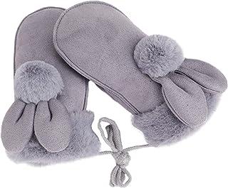 SOIMISS Kleinkindhandschuhe auf Schnur Winter Warm Gestrickte Handschuhe mit Schnur Pl/üsch Fleece Gef/üttert Cartoon Tierhandschuhe Magische Skihandschuhe Handschuhe f/ür Baby Baby