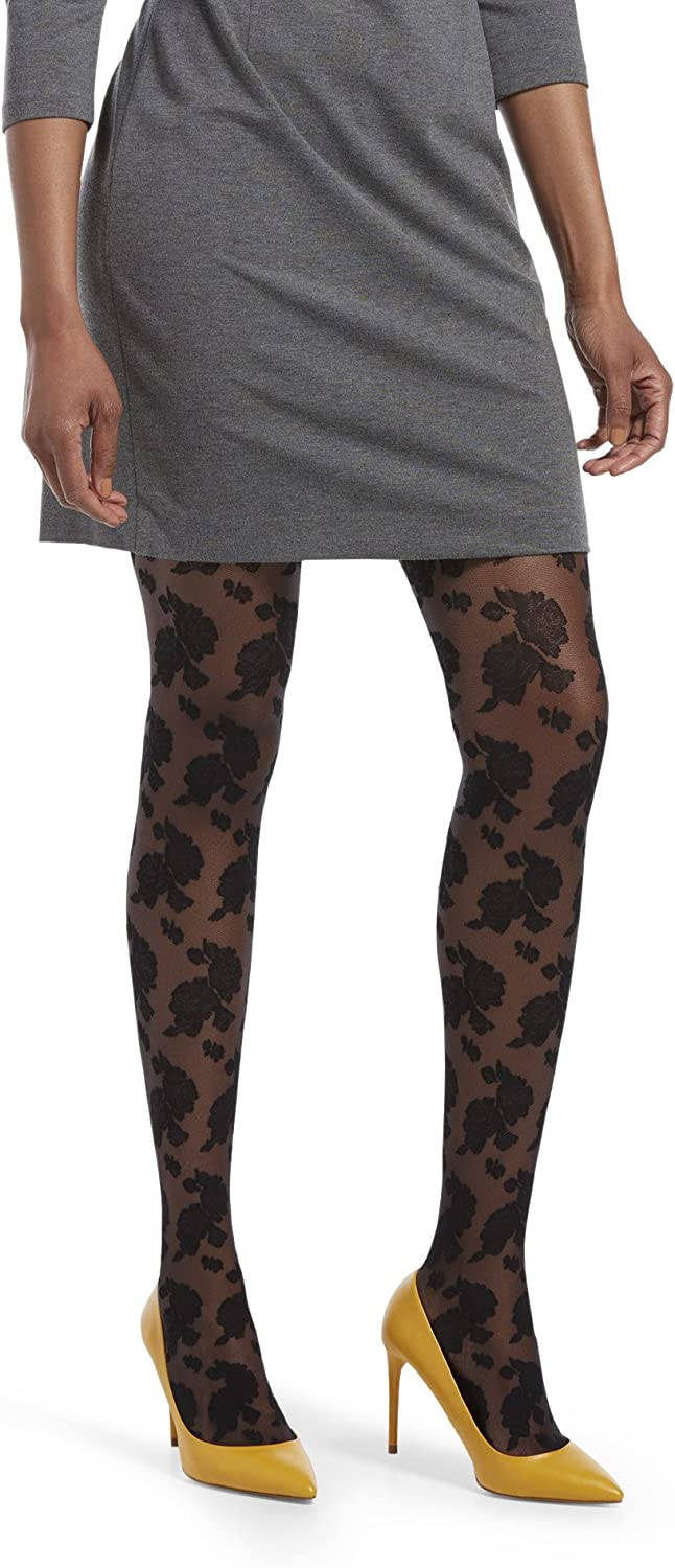HUE womens Fashion Tights With Control Top, Assorted