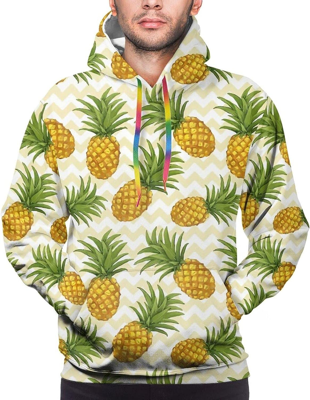 Hoodie For Men Women Unisex Tropical Pineapple Double-Sided 3d Sweatshirt Hoodie