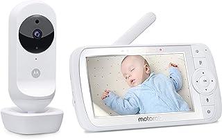 Motorola Ease 35 – elektroniczna niania z kamerą – 5,0-calowy monitor wideo Baby HD – widoczność w nocy, dwukierunkowa kom...