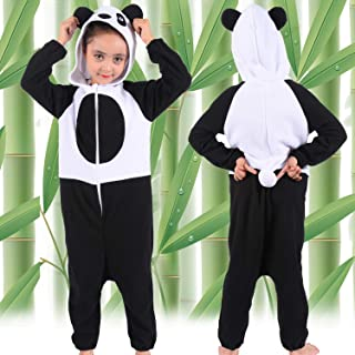 Boys Girls Animal Panda Onesie Pajamas for Kids Panda Animal Costume Cosplay Sleeping Wear Outerwear Coat