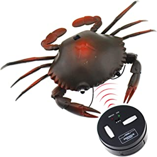 Tipmant RC Crab Animal Toy Remote Control Car Vehicle Electronic Fake Insect for Kids Birthday Gift Christmas Halloween (Grey)