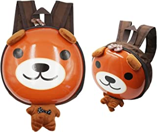 SUPPINNER Preschool Backpack, [2-5 Years Old] 3D Cartoon Animals School Bags Little Kids Cute Mini Waterproof Backpack for Toddler Boys Girls (Brown Bear)