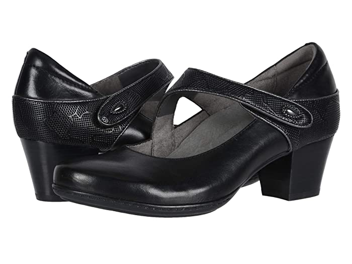 1920s Style Shoes Earth Calgary Montreal Black Multi Soft Calf Womens  Shoes $129.95 AT vintagedancer.com