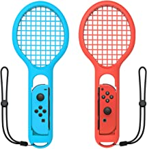 Tennis Racket for Nintendo Switch Joy-Con Controller,Accessories for Nintendo Switch Game Mario Tennis Aces Blue and Red - Only Use for Swing Mode on Nintendo Switch