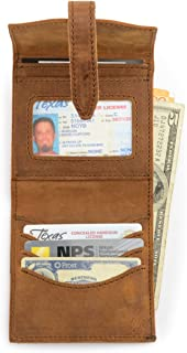 Saddleback Leather Trifold Wrap Wallet - RFID Shielded, 100% Full Grain Leather Wrap Around Wallet with 100 Year Warranty