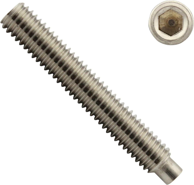 - Madenschrauben DIN 913 ISO 4026 M4 x 4 mm Gewindestift mit Innensechskant und Kegelkuppe Edelstahl A2 V2A rostfrei Gewindeschrauben 40 St/ück Eisenwaren2000