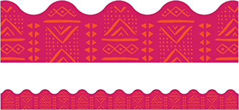 One World Pink Batik Scalloped Borders