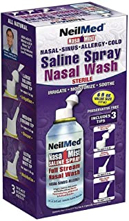 Neil Med Nasa Mist Multi Purpose Saline Spray All in One, 6.0 ounces (Pack of 2)