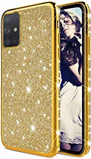 TYWZ Glitter Diamond Case for Samsung Galaxy M31S,Bling Rhinestone Protective Bumper Silicone Plating Frame TPU Cover for ...