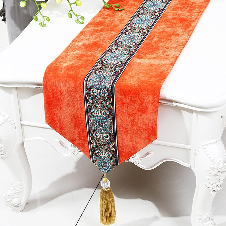 Bett Runner Table Runner TV Schrank Tuch Schuhe Cabinet Cover Handtuch Bett Schwanz Handtuch Tischdecke Tee Tischdecke Tisch Matte (Farbe   Orange, größe   33  230cm) B07CW7B89D Berühmter Laden  | Günstigstes