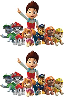 PAW Patrol Group - Ryder Chase Marshall Rocky Rubble Skye Zuma - For Light-Colored Materials - 2 Iron On Heat Transfers 7