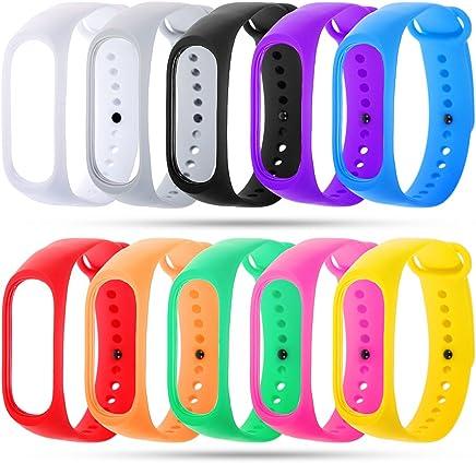 Zacro 10pcs Xiaomi Mi Band 3 Correa para Reloj,Coloridos Impermeable Reemplazo Watch Banda para Xiaomi Mi Band 3 SmartWatch (Sin Tracker)