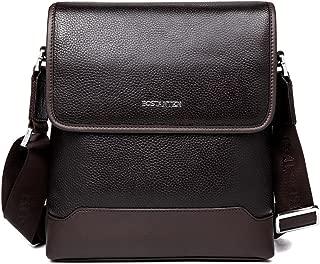 BOSTANTEN Cow Leather Cross Body Messenger Shoulder Bag Briefcase for Men Coffee