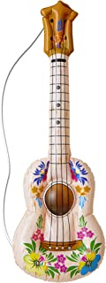 Inflable Hula Guitarra 105cm inflable Accesorio para Tropical Beach & hawaianas de disfraces Disfraces Up & Trajes