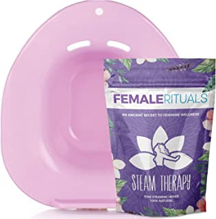 Female Rituals Yoni Steam Seat and Yoni Steaming Herbs (4 Ounces) Bundle